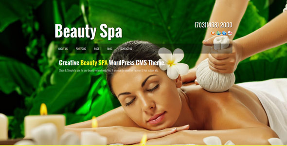 Beauty SPA – Creative WordPress  CMS Theme