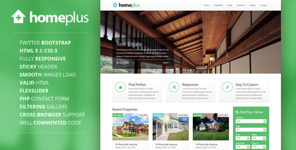 Homeplus – Responsive Real Estate Template
