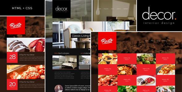 Extraordinary Decor - Responsive Interior Design Template