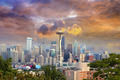 Seattle Cityscape with Stormy Sky - PhotoDune Item for Sale