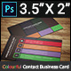 Colourful Contact Business Card - GraphicRiver Item for Sale