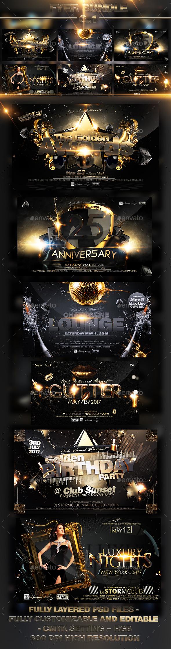 Luxury Flyer Bundle V3 - Events Flyers
