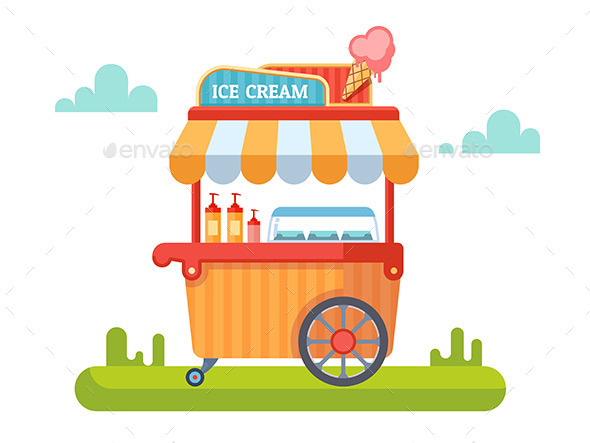 Trolley With Ice Cream - Retail Commercial / Shopping