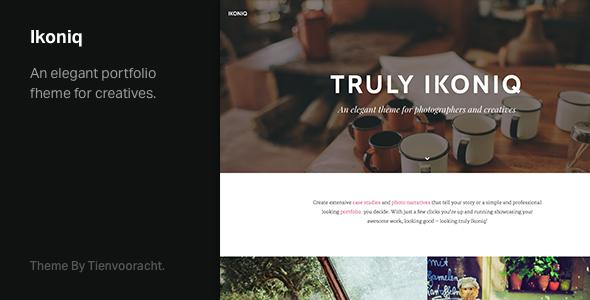 Ikoniq – A Responsive Portfolio WordPress Theme