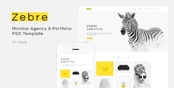 Zebre – Minimal Agency & Portfolio PSD Template