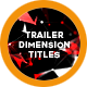 Dimension Trailer Titles - VideoHive Item for Sale