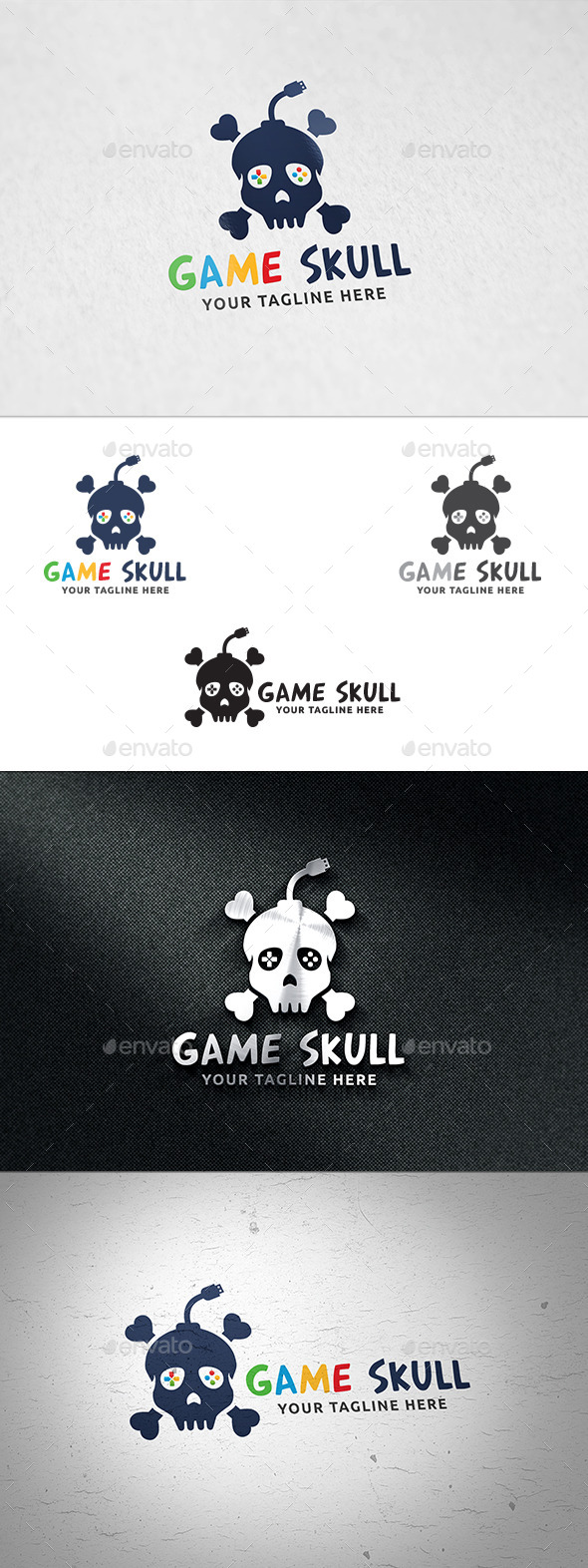 Game Skull - Logo Template - Humans Logo Templates