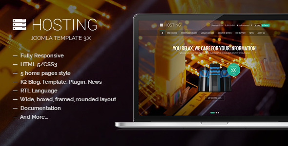 Hosting – Multipurpose Joomla Template