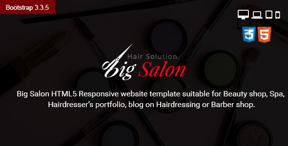 Big Salon Beauty & Barber Site Template - Health & Beauty Retail