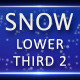 Snow Lower Third 2 - VideoHive Item for Sale