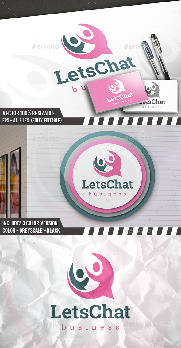 Chat People Logo - Humans Logo Templates