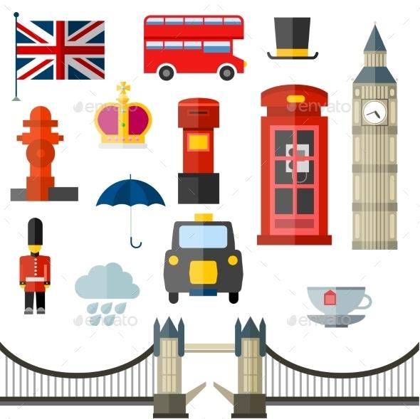 London Vintage Retro Icons - Travel Conceptual