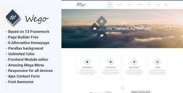 Wego – Multipurpose Joomla Template