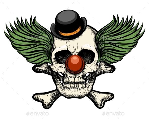 Clown Skull - Tattoos Vectors