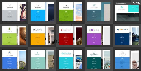 Vertical Menu HTML5 Template