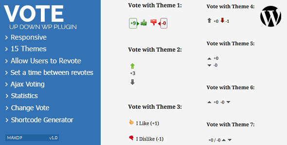 Vote Up Down Wordpress Plugin - CodeCanyon Item for Sale