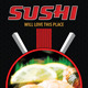 Sushi Restaurant Promotion Rollup Banner 62 - GraphicRiver Item for Sale