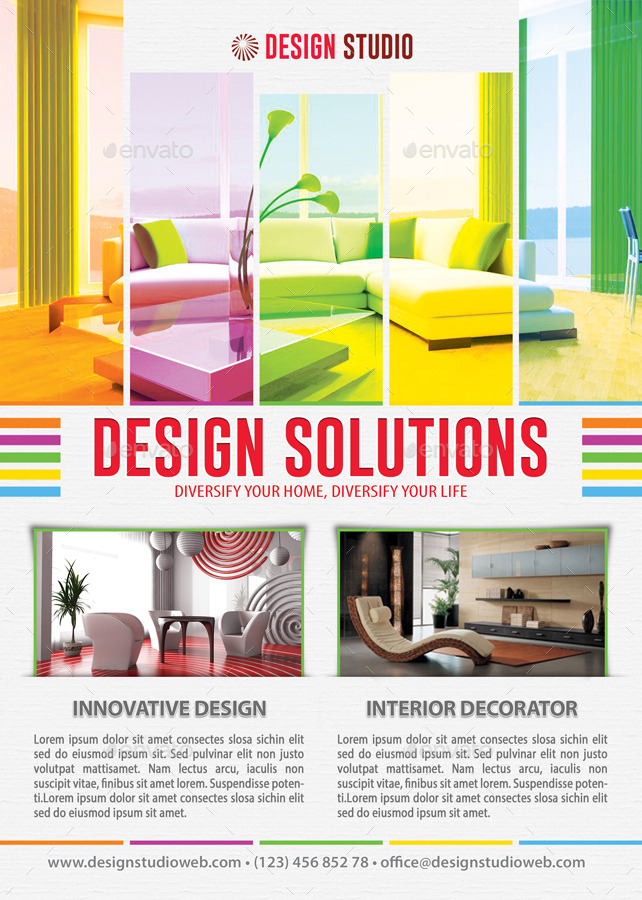 Interior Design Solution Flyer Template  By Min  Graphicriver