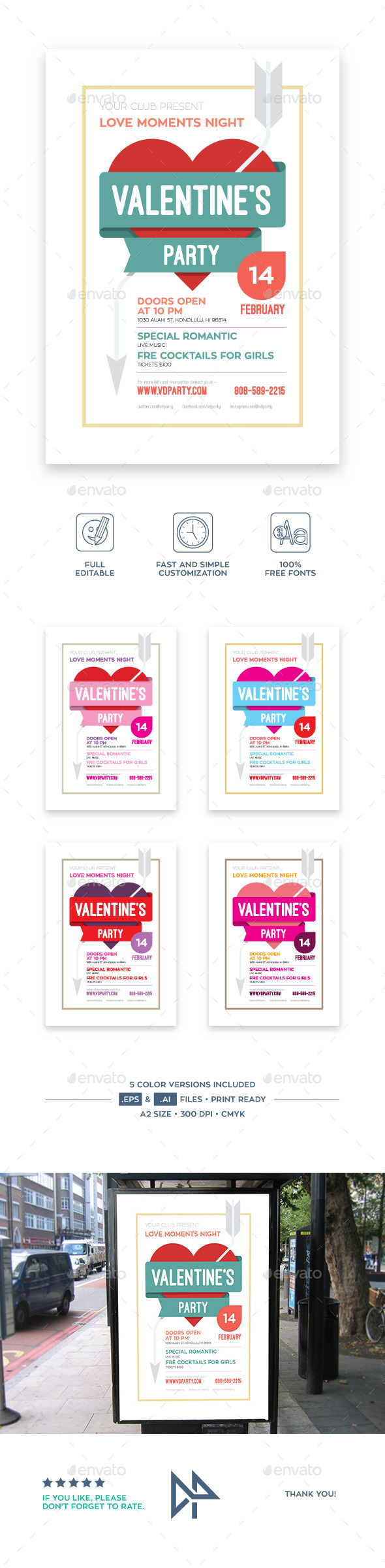 Valentine's Day Poster, vol.2 - Clubs & Parties Events