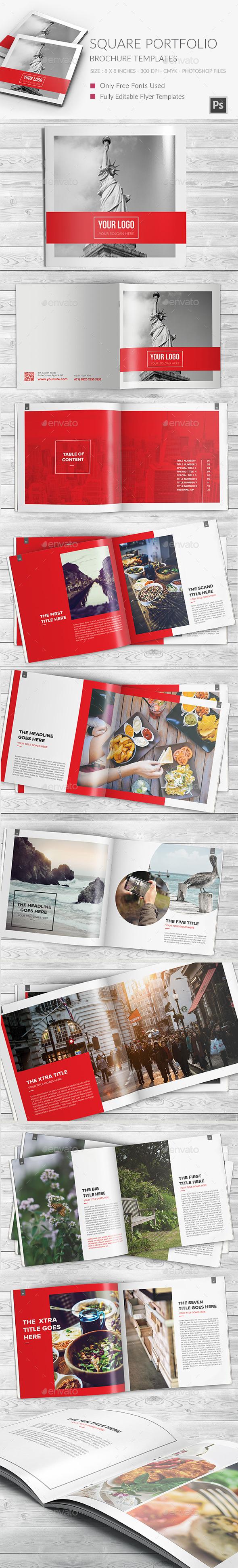 Square Portfolio Brochure Template - Portfolio Brochures