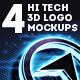 4 Hi-Tech 3D Logo Mockups - GraphicRiver Item for Sale