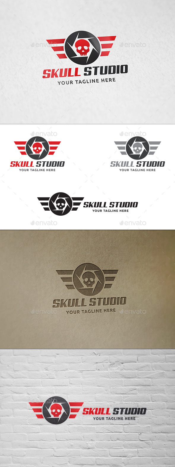 Skull Studio - Logo Template - Symbols Logo Templates