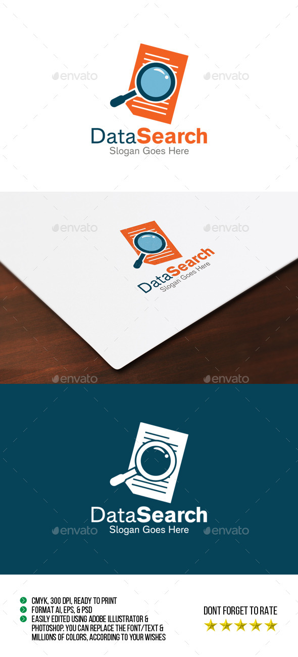Data Search Logo - Symbols Logo Templates