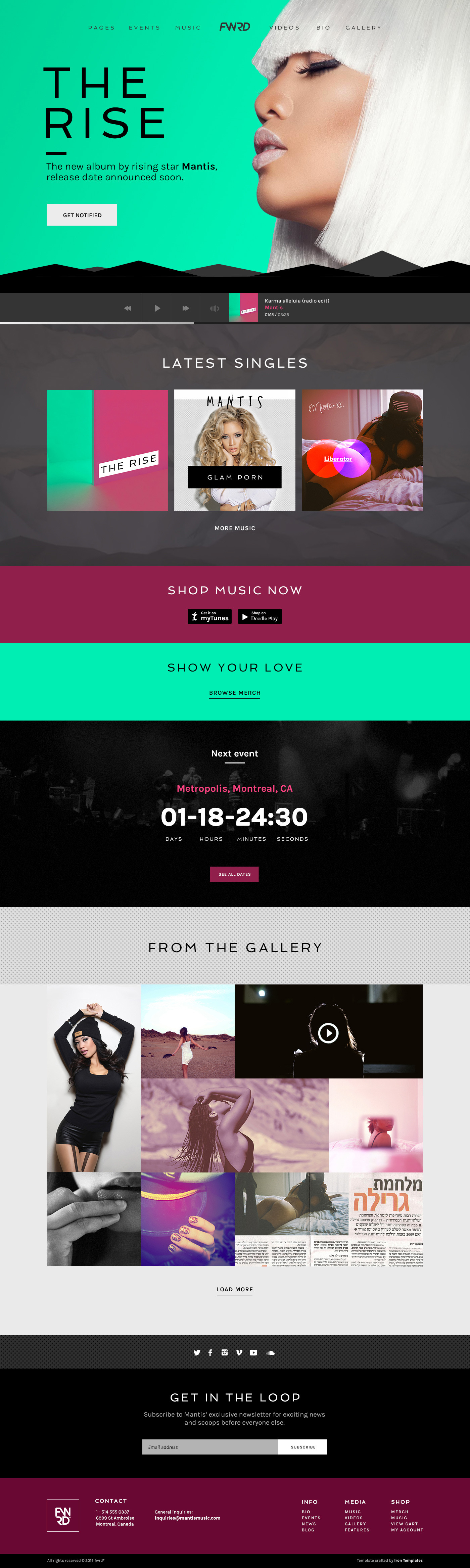 Fwrd Music Band Amp Musician Wordpress Theme By