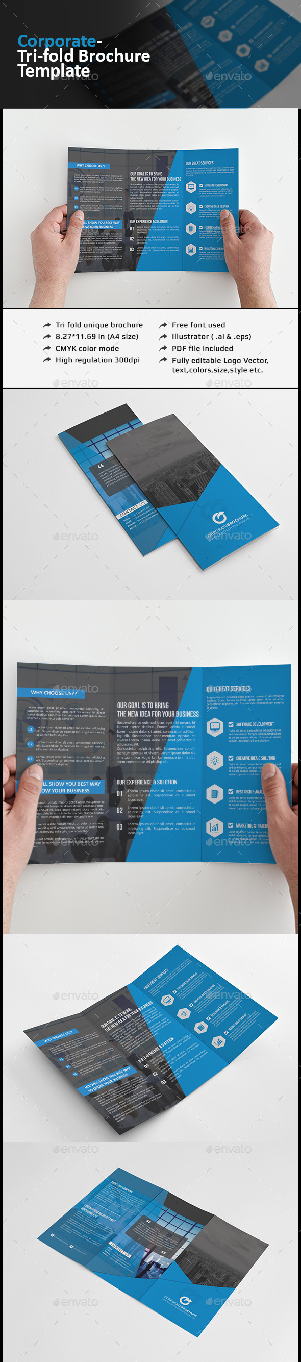 Tri-fold Brochure-Multipurpose - Corporate Brochures