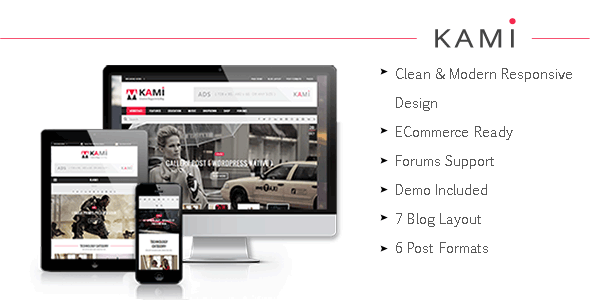 KAMI - Creative Magazine and Blog Theme
