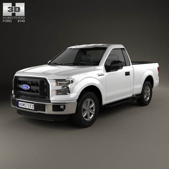 ford f 150 regular cab xl 2014 by humster3d 3docean. Black Bedroom Furniture Sets. Home Design Ideas