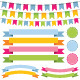 Bunting Banner Ribbons and Labels Set - GraphicRiver Item for Sale