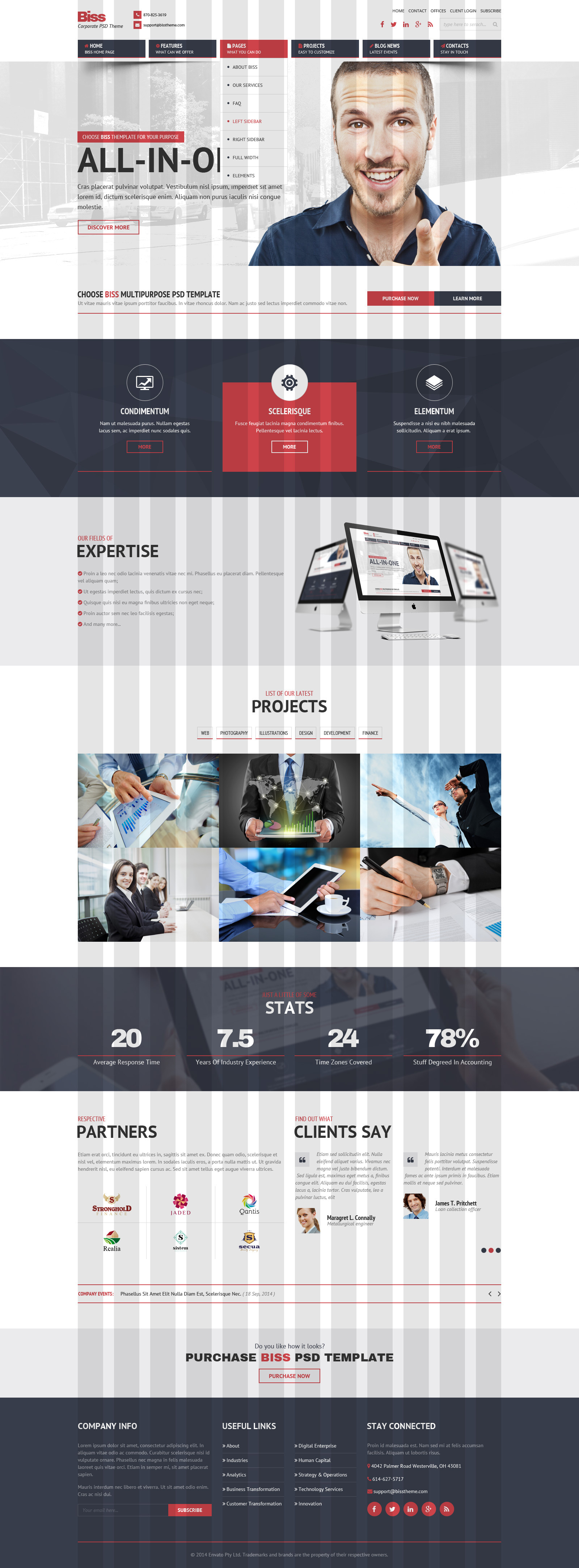 Biss Corporate HTML Themplate by RivaThemes | ThemeForest