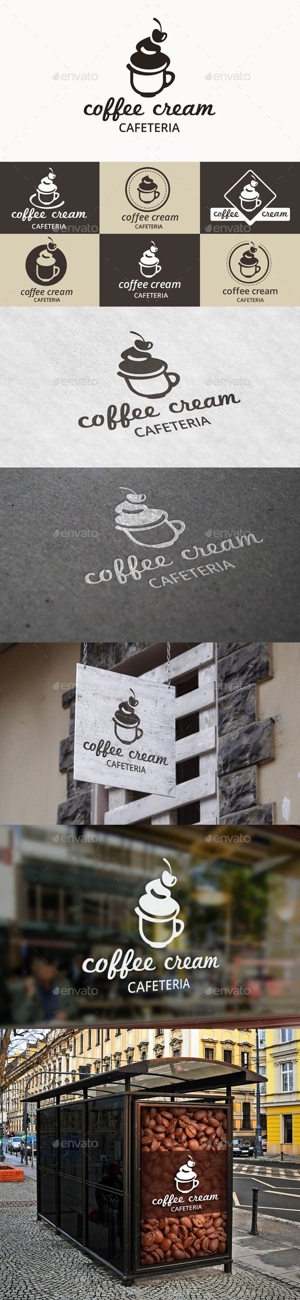 Coffee Cream Logo - Food Logo Templates