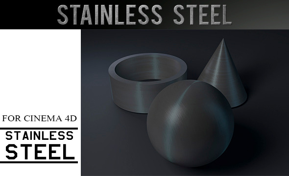 Stainless Steel Material - 3DOcean Item for Sale