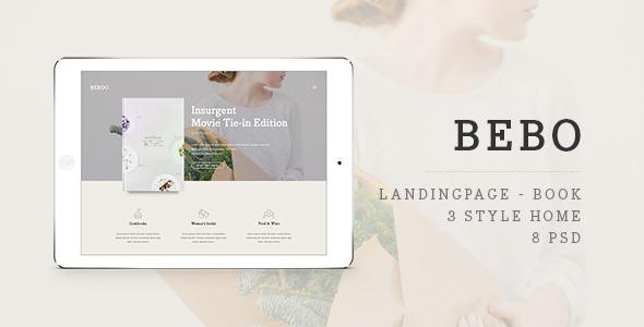 BEBO –  Book's Landingpage PSD