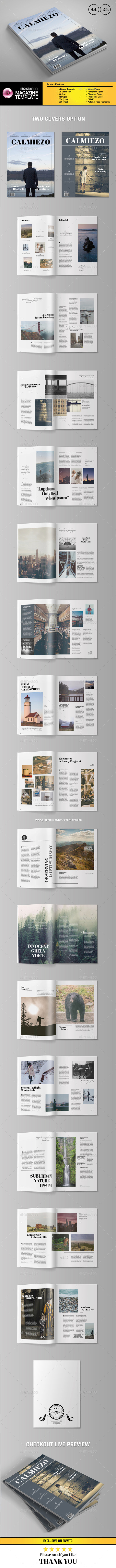 Calm Look Magazine Template - Magazines Print Templates