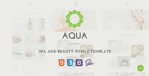 Aqua – Spa and Beauty HTML5 Template