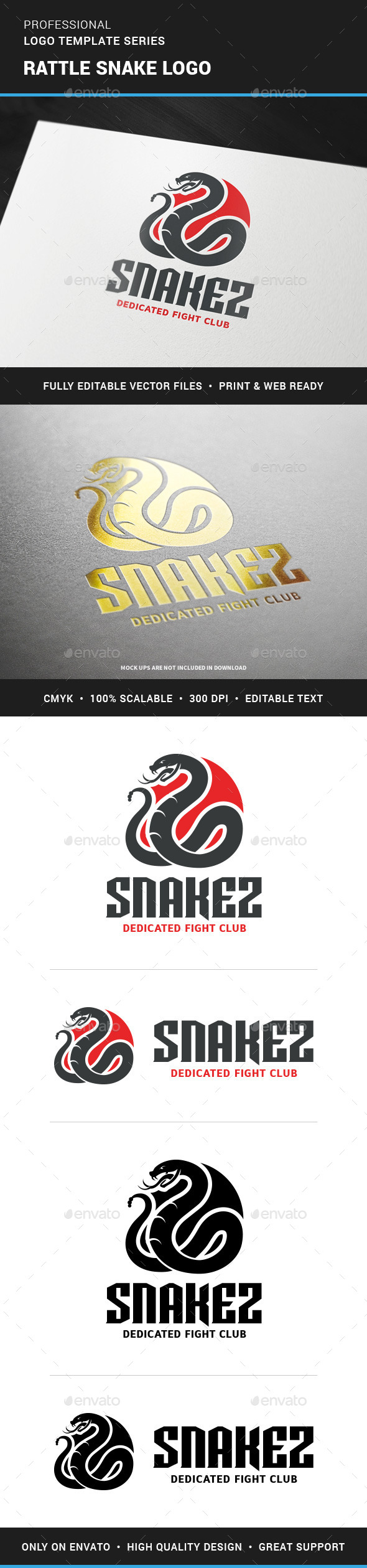 Rattle Snake Logo Template - Animals Logo Templates