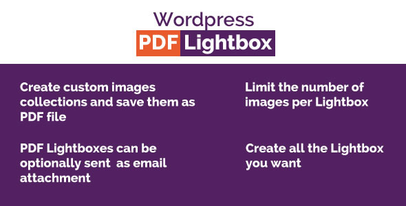 Wordpress Images PDF Lightbox - CodeCanyon Item for Sale