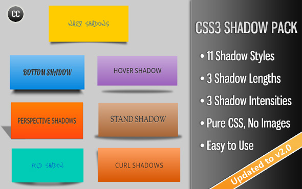 CSS3 Shadow Pack - CodeCanyon Item for Sale
