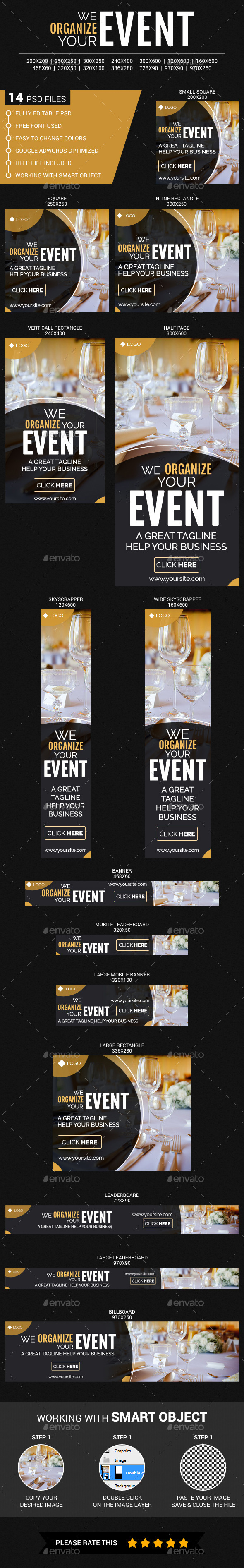 Event Organize - Banners & Ads Web Elements