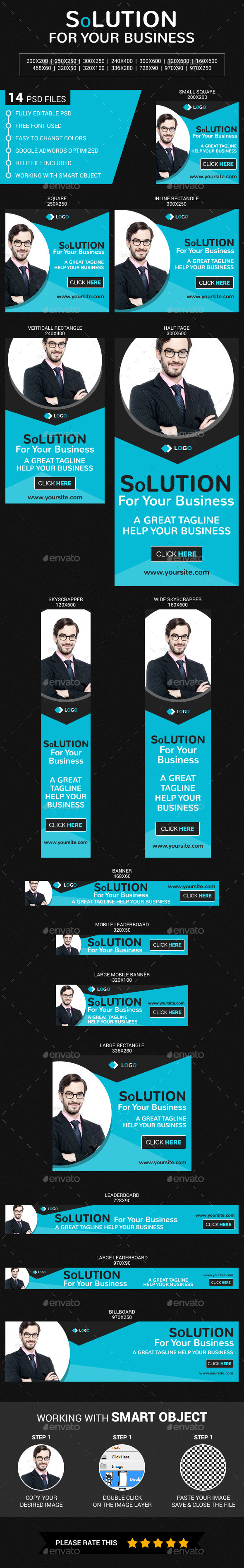 Corporate & Business - Banners & Ads Web Elements