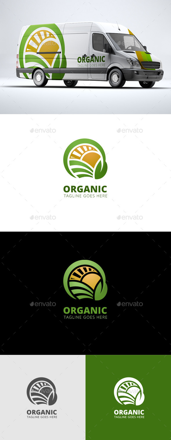 Organic - Agriculture Logo Template - Nature Logo Templates