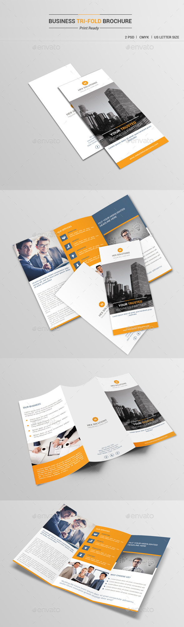 Business Tri-Fold Brochure V1 - Corporate Brochures