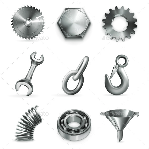 Industrial Metal Objects - Man-made Objects Objects