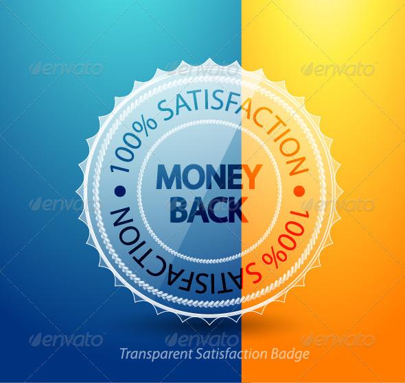 Money back guarantee badge - Decorative Symbols Decorative