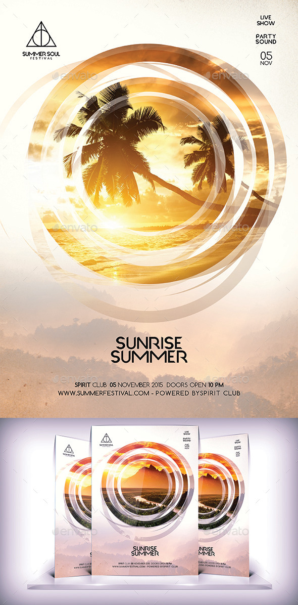 Summer Sunrise Flyer - Flyers Print Templates