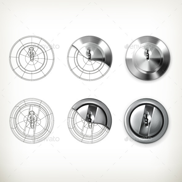 Keyhole Vector Icons - Man-made Objects Objects