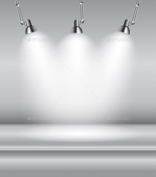 Background with Lighting Lamps - Man-made Objects Objects